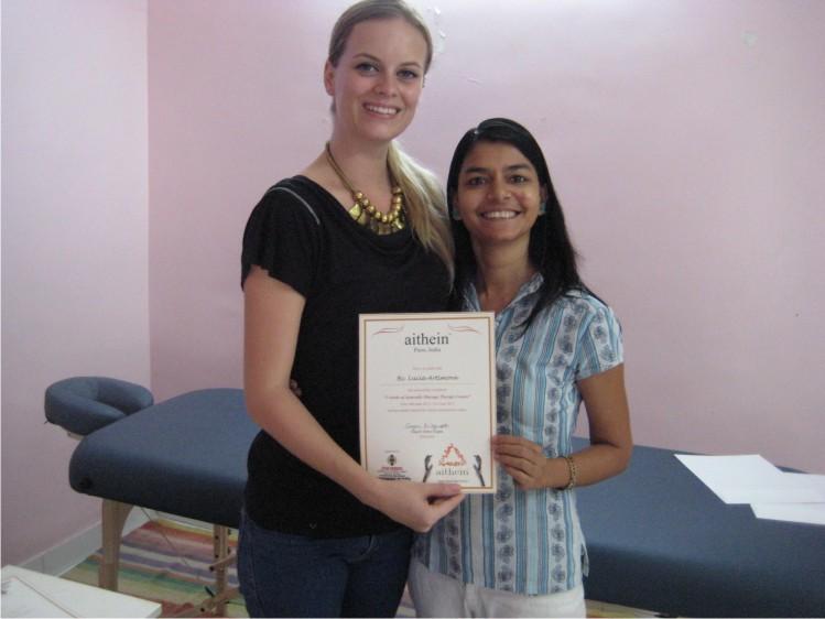 Ayurveda Massage Course India - Gagori with Lucia